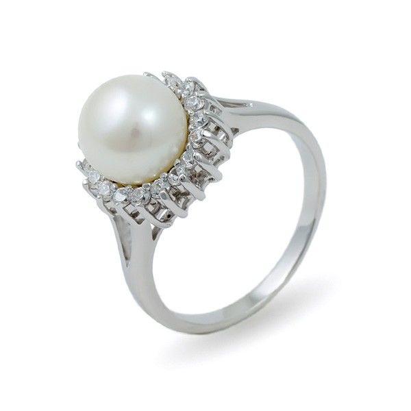 Кольцо из серебра 925 пробы с натуральным жемчугом – купить на Ярмарке Мастеров – MAU5ARU | Кольца, Москва